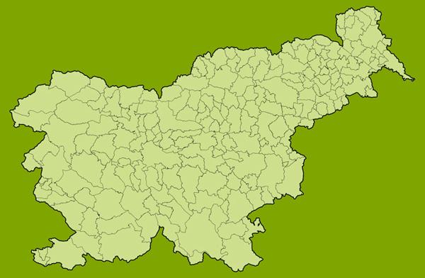 Zemljevid slovenskih občin