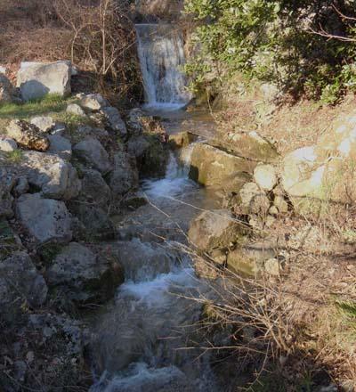 Potok Malenšček nižje, v bližini vasi Vrtovin
