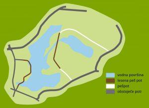 Zemljevid parka Borov gozdiček
